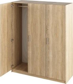 3-dverová skriňa, dub sonoma, GREEN
