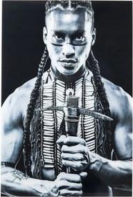 Zasklený čiernobiely obraz Kare Design Native Front, 150 × 100 cm