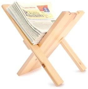 ČistéDrevo Dřevěný stojan na noviny
