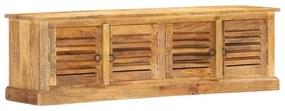 vidaXL Úložná lavička 128 cm, mangový masív