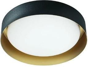 Kúpeľňové svietidlo LINEA Crew 2 čierna zlatá 8288