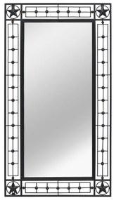 vidaXL Nástenné zrkadlo obdĺžnikové čierne 60x110 cm