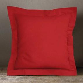 Goldea bavlnená obliečka na vankúš s ozdobným lemom - červená 70 x 90 cm