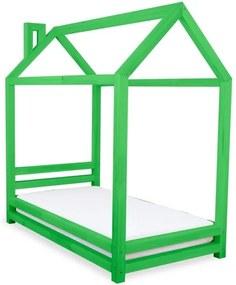 HAPPY detská posteľ, Veľkosť 120 x 200 cm, Farba pastelová zelená
