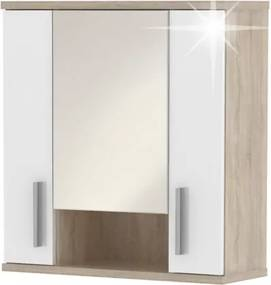 TEMPO KONDELA Lessy LI 1 kúpeľňová skrinka na stenu dub sonoma / biela