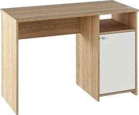 PC stôl, dub sonoma/biela, DEDE
