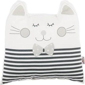 Sivý detský vankúšik s prímesou bavlny Apolena Pillow Toy Big Cat, 29 x 29 cm