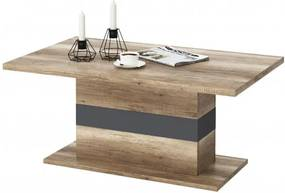 Sconto Konferenčný stolík MADRAS dub canyon/sivá