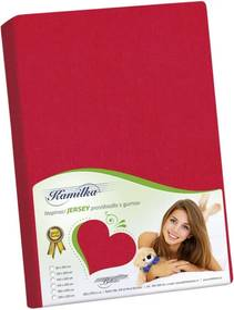 Bellatex Jersey prestieradlo Kamilka červená, 120 x 200 cm