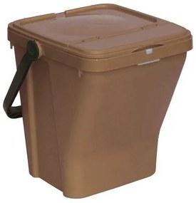 Odpadkový kôš Rolland na triedený odpad, objem 35 l, hnedý