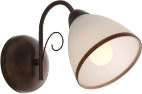 Interierové rustikálne svietidlo REDO KATIA hnedá E27  02-572