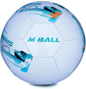 MBALL futbalová lopta bielo-modrá vel.5