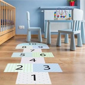 Adhezívny vinylový detský koberec Ambiance Hopscotch