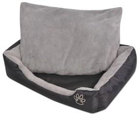 vidaXL Pelech pre psov s polstrovaným vankúšom, veľkosť L, čierny