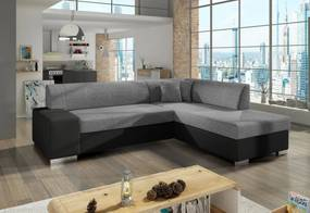 Expedo Rozkladacia sedacia súprava CHERRY, 278x73x216 cm, sawana 21/soft 011 black, pravá