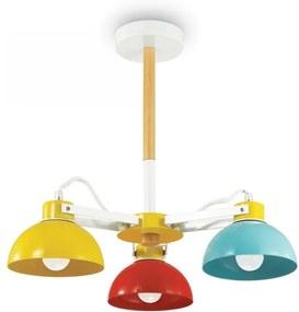 Ideal Lux 157146 detský luster Titta 3x60W|E27