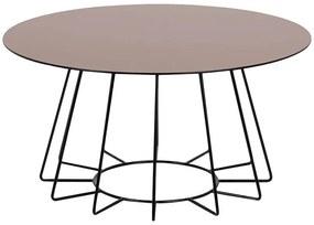 Casia konferenčný stolík bronz/čierna