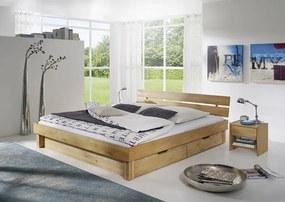 Bighome - TOM posteľ 200x200 s odkladacím priestorom masívny olejovaný buk