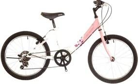 "Neuzer 20""/24"" Detský bicykel CINDY 6SPD ružovo-biela 2018"