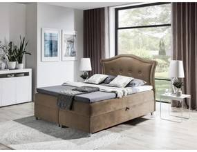 Elegantná rustikálna posteľ Bradley 120x200, svetlo hnedá + TOPPER