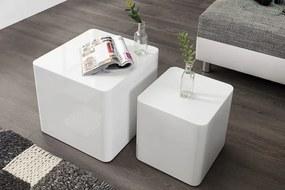 Odkladací stolík Monobloc sada 2ks biely