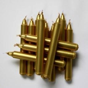Sada metalických sviečok k tradičnému anjelskému zvoneniu Stromček, 12 ks, zlatá