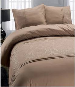 Hnedé obliečky z mikroperkálu Sleeptime Brussel, 140 x 220 cm