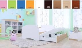 MAXMAX Detská posteľ pre DVOCH (s výsuvným lôžkom) 180x90 cm - BEZ MOTÍVU