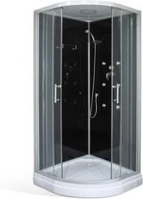 Roltechnik Hydromasážny sprchový box BONDY BLACK /900 90 cm 90 cm