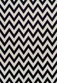 TEMPO KONDELA Adisa koberec 200x285 cm slonovinová / tmavosivá