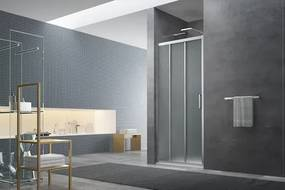 Sprchové dvere 80x195 cm Swiss Aqua Technologies TEX chróm lesklý SIKOTEXE80CRG