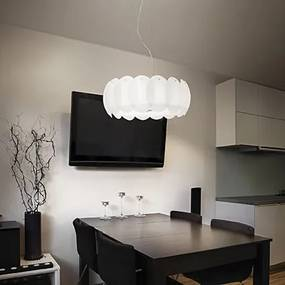 závesné svietidlo Ideal lux OVALINO 8 x 60W E27