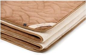 Hnedo-béžová vlnená deka z ťavej vlny Royal Dream Cappucino, 140 x 200 cm