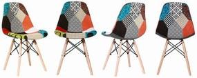 Jedálenské stoličky PATCHWORK Alex 4 ks - škandinávsky štýl