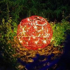 LED 3D dizajnová guľa Galax Fun, Ø 30 cm, červená