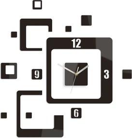 Moderné nástenné hodiny TRIO HMCNH013-wenge