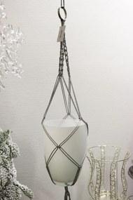 Strieborná prepletaná sieťka na kvetináč 90cm