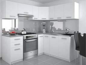 Moderná rohová kuchyňa biela Ankara 190 x 170 cm