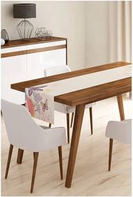 Behúň na stôl z mikrovlákna Minimalist Cushion Covers Butterflies, 45 × 145 cm