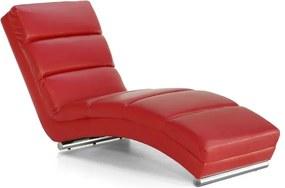 Leňoška HERA textilná koža červená
