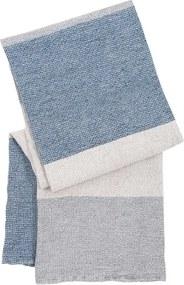 Osuška Terva 85x180, bielo-sivo-modrá Lapuan Kankurit