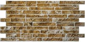 Obkladové 3D PVC panely rozmer 1025 x 495 mm ukládaný horský kameň