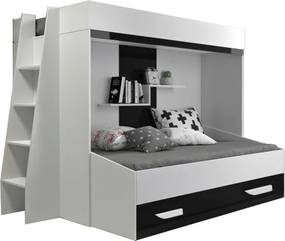 SB Multifunkčná poschodová posteľ Party 17 Farba: Čierna