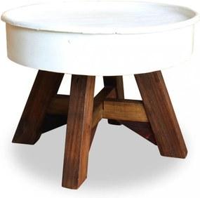 Konferenčný stolík hnedá / biela Dekorhome