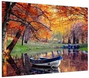 Jesenný obraz loďky (K012534K7050)