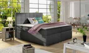 Moderná box spring posteľ Alvares 180x200, šedá