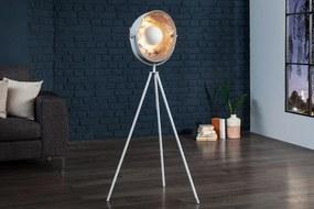 Masiv24 - Stojaca lampa SADO 140 cm - strieborná