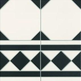 Dlažba Realonda Octagon black lem 33x33 cm mat OCTAGONLBK
