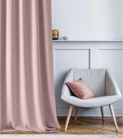Ružový záves jednofarebný Poudre Pink Aura 140x250cm na páske
