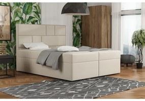 Dizajnová posteľ s úložným priestorom 120x200 MELINDA - béžová 3